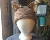 Fox and black bear hat / unisex animal ears beanies / Dark grey crochet hat round ears / Red crochet hat with pointy ears