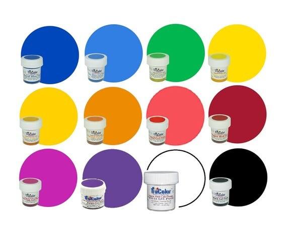 12 TruColor Set (Basics Kit) Natural Food Color Powder 6-10g ea ...