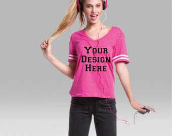 Design Your Own Sporty Slub Tee