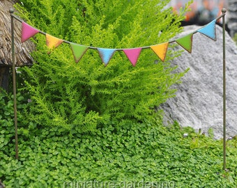 Party Flags for Miniature Garden, Fairy Garden