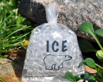 Bag of Ice for Miniature Garden, Fairy Garden