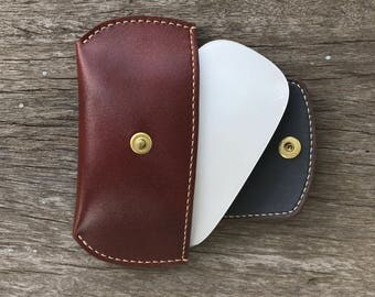 Apple Magic Mouse Leather Pouch Cover brown birthday-gift gift-for-him