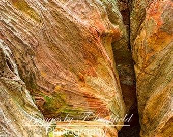 Rock House Wall 1, Sandstone, Hocking Hills, Ohio,  Fine Art Photography, Fine Art Print