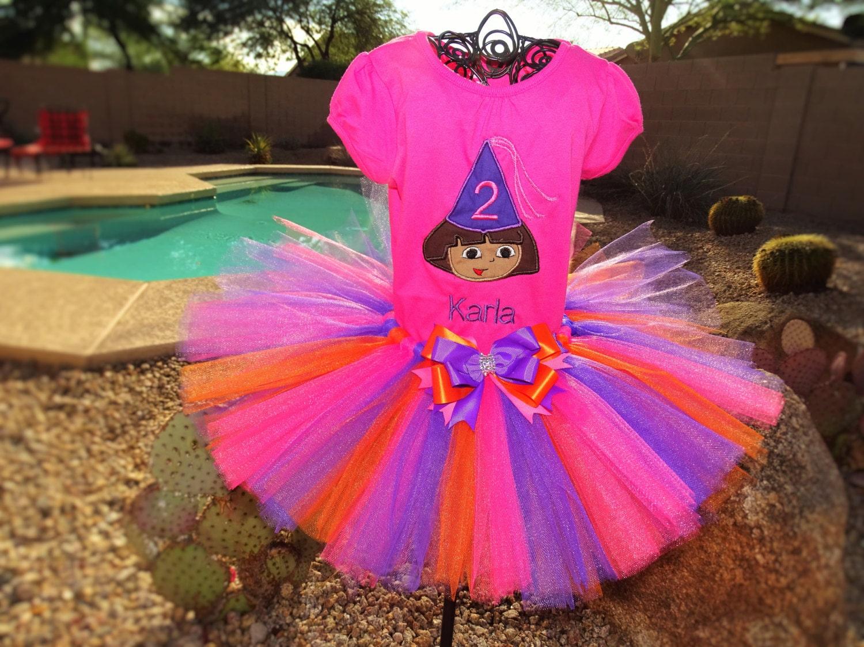 Dora the Explorer tutu Outfit Birthday outfit