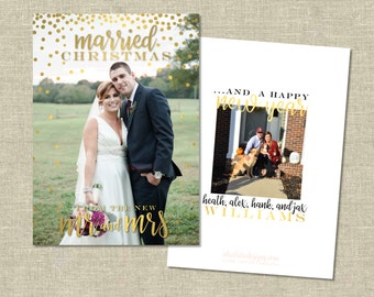 Christmas Photo Card - Newlywed | Married Christmas | New Mr. & Mrs.