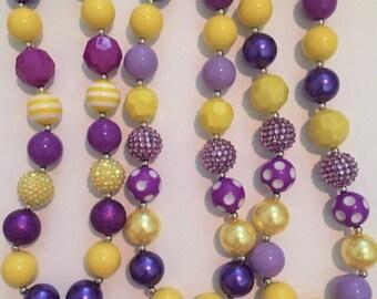 LSU chunky necklace