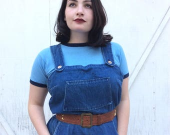 Vintage denim coverall dress.