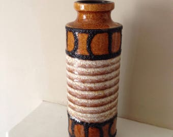West German Retro Lava Vase