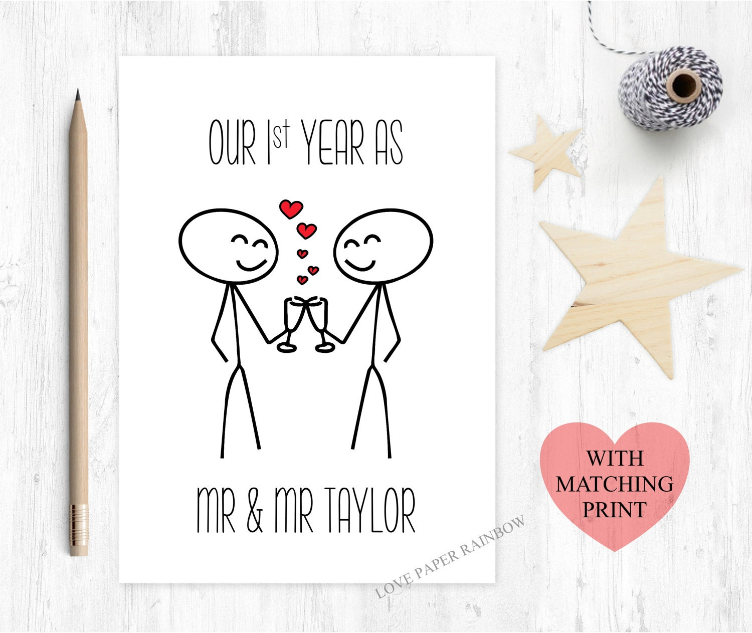 1 Year To Go Until Wedding Gift : ... anniversary card we survived 1 year wedding anniversary for him first