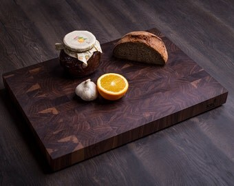 Walnut Endgrain cutting board - KRCwood.com Natural series