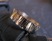 14K Gold Bark Ring Mens Wedding Band Mens Wedding Ring Man Wedding Band Man Wedding Ring Rustic Man Wedding Band Unique Man Wedding Band