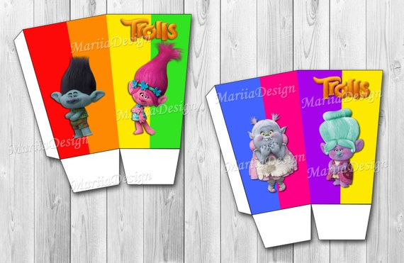 Trolls Paper Popcorn Containers