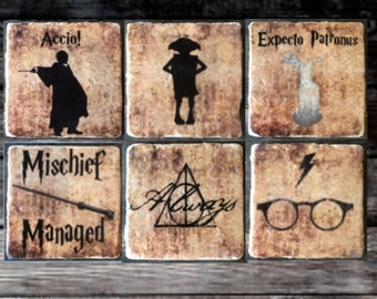 Harry Potter Silhouette Coaster or Decor Accent (You Pick!)
