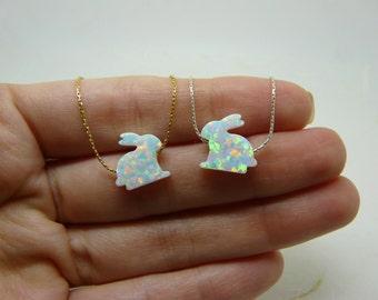 Rabbit necklace, Bunny necklace, Animal necklace, Kids necklace, Rabbit jewelry, Children jewelry, Kids jewelry, Bunny charm