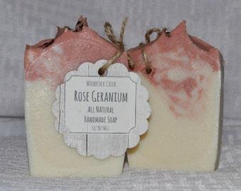All Natural Egyptian Rose Geranium Handmade Soap