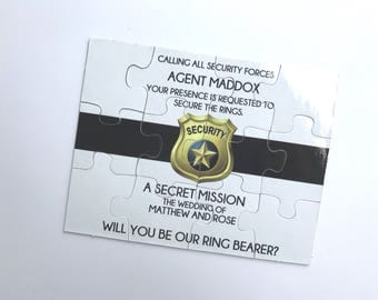 Ring Bearer Proposal Puzzle Ring Security | Will you be my Bridal Party 010