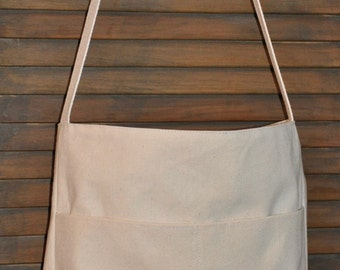 Simple Canvas Shoulder Bag