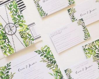 Wedding Invitation Suite - Tropical Palm Springs - Printed invitations
