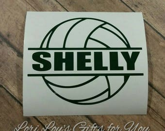Volleyball decal Personalized volleyball decal Car decal
