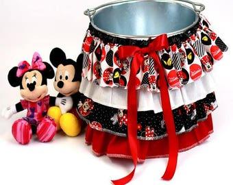 Ruffle Bucket Skirt Photography Prop Red/Black Minnie