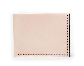 Bruce Bifold Leather Wallet - Natural