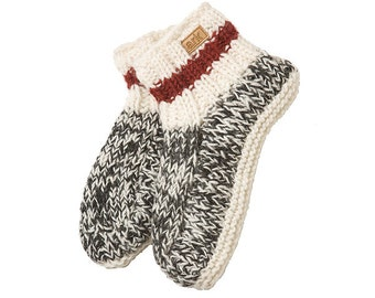 Cabin Wool Booties, Slippers, Fleece Lined
