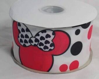"""3"""" Girl Mouse Grosgrain Ribbon"""