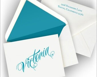 Letterpress Fold Notes with 100% Cotton Paper - Letterpress Notes with Name - 2170