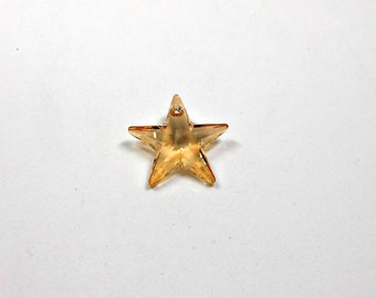 1 Crystal Golden Shadow Swarovski Star Pendant, 28mm, Star, Pendant, Swarovski, Jewelry Supplies, Jewelry Making, Bead Supplies