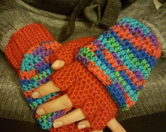 Fingerless gloves with flaps *custom request*