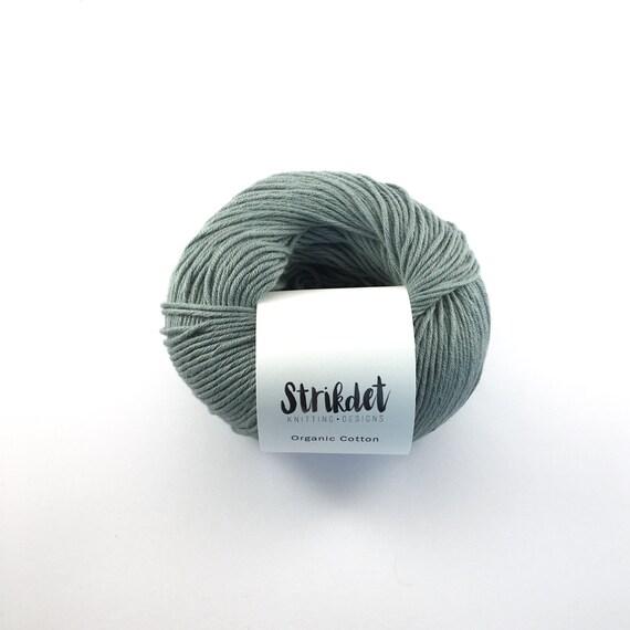 STRIKDET Organic Cotton Dusty Green / Økologisk Bomuld - Støvet Grøn