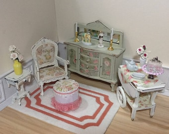 1:12 Scale Dollhouse Miniature Shabby Parlor Collection Furniture (each piece sold seperately)