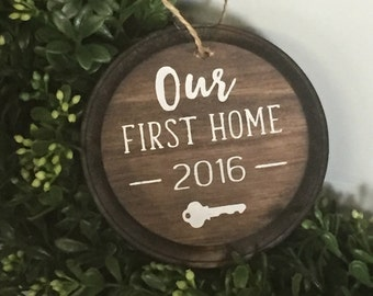 Our first home Ornament, First house ornament, Housewarming ornament, first home ornament, first house ornament,