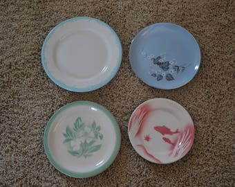 Mix & Match Set of 4 Vintage Restaurantware Bread Dessert Plates