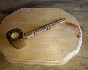 Hand carved wooden pipe