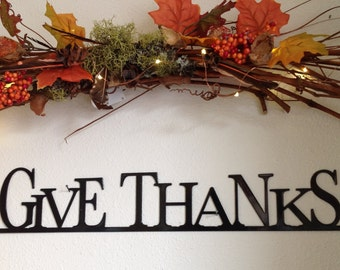 Give Thanks. fall decor, Thanksgiving, Thanksgiving gift, Thanksgiving decor, autumn decor, home decor fall decorations, give thanks sign