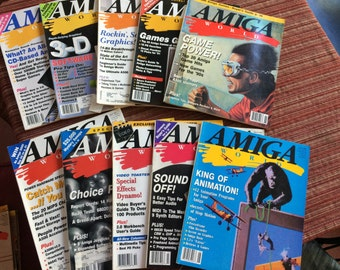 Amiga Computer,Amiga Computer Magazine,Computer Book,Computer Instruction,Magazine Back Issues,90s Computers,Computer Geek,Computer Gift