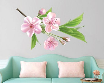 Floral Wall Decals Etsy - Wall decals in pakistanblack flowers removable wall stickers wall decals mural home art