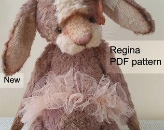 PDF Bunny pattern, 8 inches (20 cm) - Regina