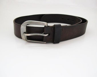 Italian Vintage Leather Belt Brown
