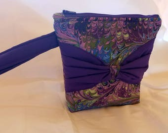SALE: Wristlet with bow, Clutch, Make-up bag
