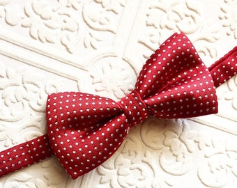 Boy bowtie, baby bow tie, red bow tie, baby red bow tie, boy bow tie,toddler bowtie, Red baby bow tie