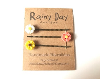 Daisy Hair Slide Trio