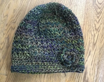 Ladies crochet slouch hat