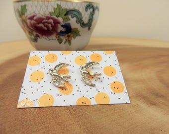 Gold Swallow Earrings, Summer Jewellery, Gift for Bird Lover, Bird Studs