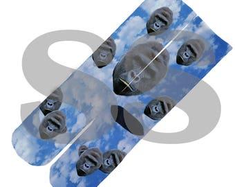 Custom Socks - Harambe Clouds! Harambe Clouds Heaven Sky Gorilla Ape RIP elites elite sock