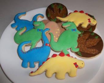 Dinosaur cookies, dinosaur sugar cookies