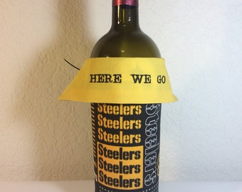 Pittsburgh Steelers Embroidered Wine Bottle Wrap