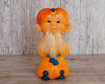 Soviet toy Old man Hottabych Wizard toy Rubber toy Fairy tale character