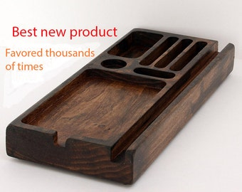Desk Organizer, Wood Phone Docking Station, Charging Station, Wood iPhone Dock, iPhone Stand, Wood Docking Station, For Her, valentine, Gift